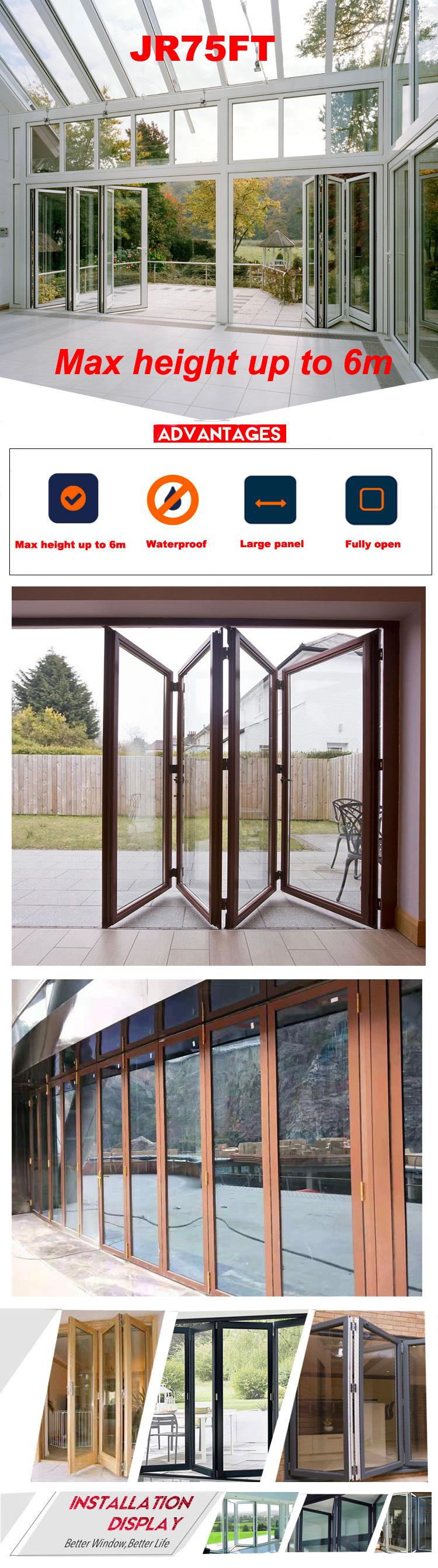 China frameless glass bi-fold door interior