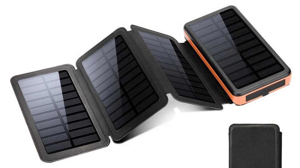 Senza fili Caricatore Solare 20000 mAh Esterna Banca Mobile di Potere Banche di Alta Capacità di 20000 mAh di Ricarica Portatile Powerbank Con La Luce