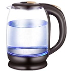 1.8L 1500W fast boiling stainless steel inner cover electric kettle with color changing, glass kettle