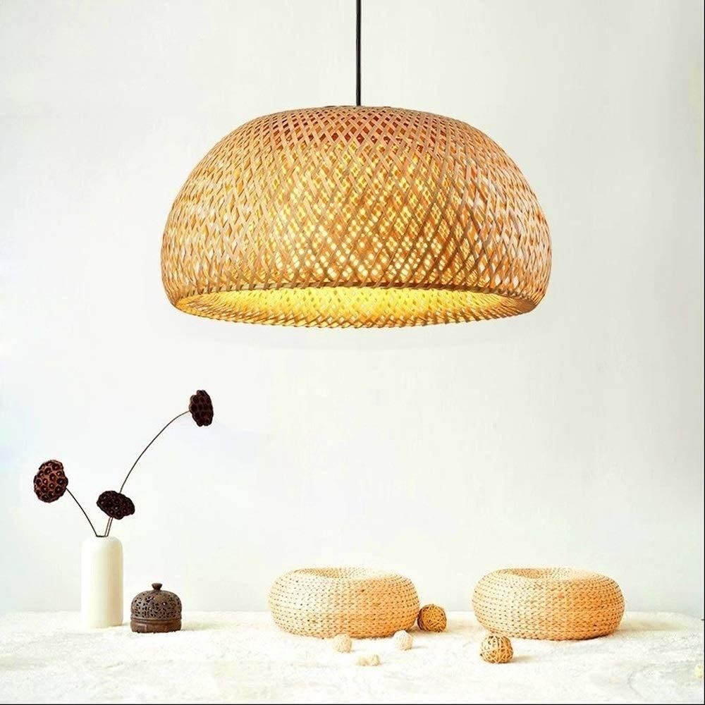 Bamboo Chandelier E27 Base Restaurant Island Lights Retro Chandeliers for Dining Rooms