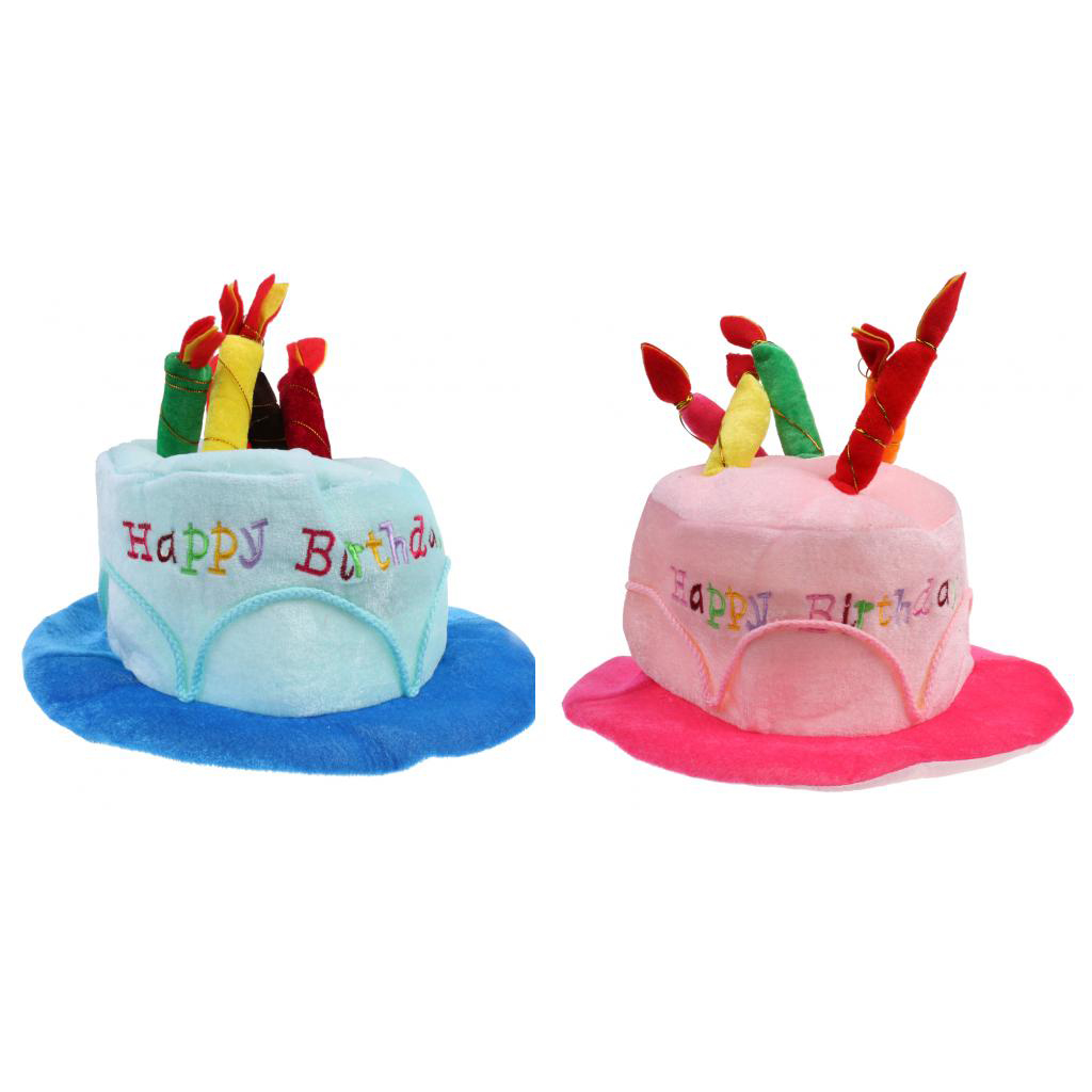 Happy BIRTHDAY CAKE HAT Party Costume Bday Fancy Dress with Candles Gift New
