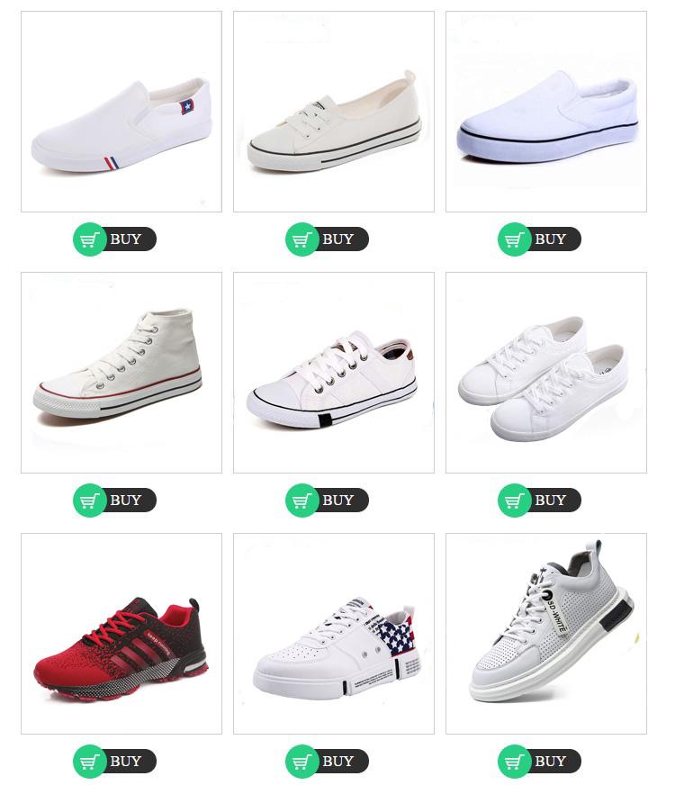 אופנה גברים נעלי בד Sneaker לבן Zapatillas נעלי ציור מותאם אישית עיצוב לבן בד נעליים