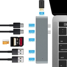ILINK çoklu USB 3.0 HD-MI adaptörü Dock MacBook aksesuarları için 7 in 1 USB-C tip C 3.1 Splitter 3 Port USB C HUB