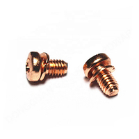 M4 Pan Head Copper Screws with Washer Attached