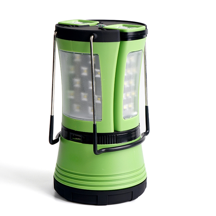 Multifunctional waterproof plastic portable rechargeable usb led camping lantern for outdoor