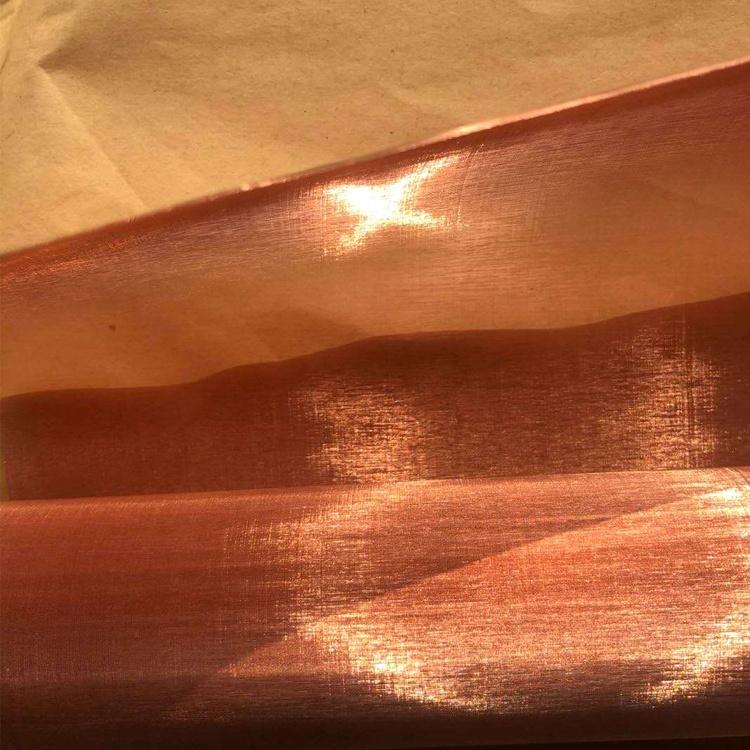 ultra fine conductive fabric red copper mesh screen
