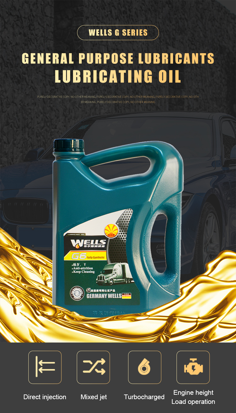 wells G6 15W40 4L Long life engine oil  Fully synthetic diesel engine oil