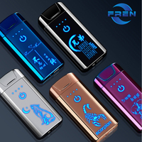 Popular pattern arc lighter electronic with custom logo lighter