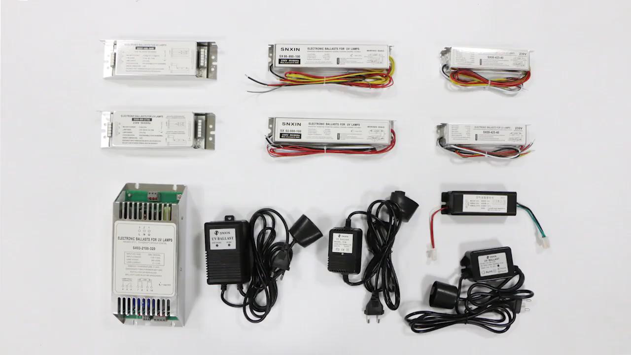 광학 경보 110V 또는 220V 안정기 uv 램프 전자식 안정기 밸러스트 40W UV 살균 램프 밸러스트