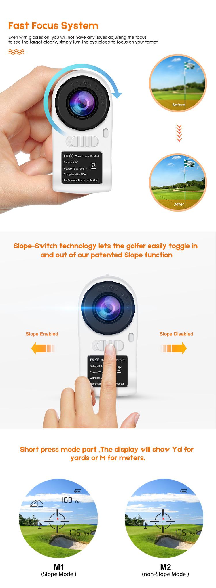 Golf Laser-entfernungsmesser Vermesser Entfernungsmesser Für Golf Jagd