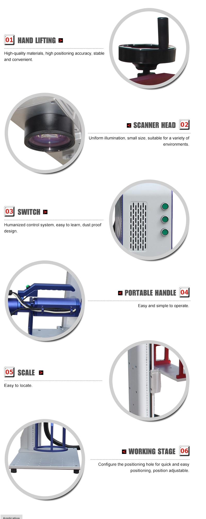 50W Handheld Fiber Laser Marking Machine TSF