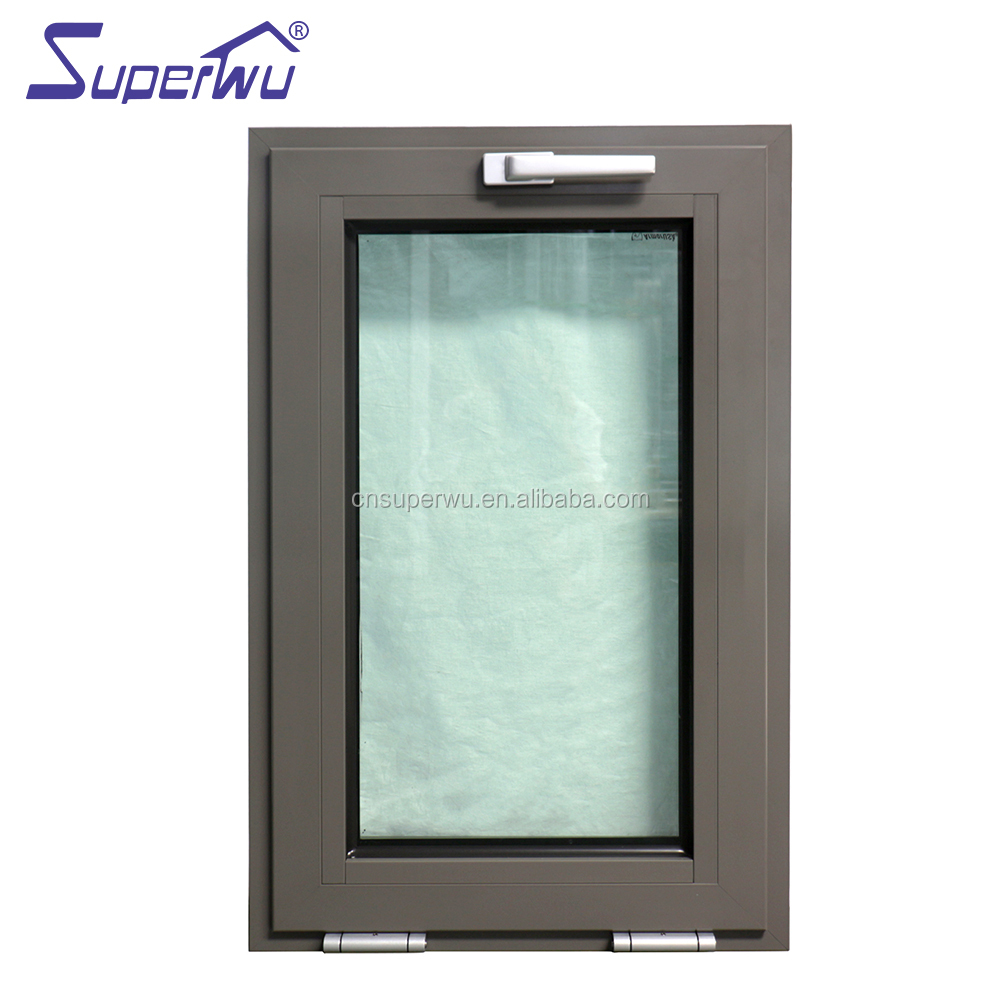 Aluminum burglar proof windows designs with safety tempered glass