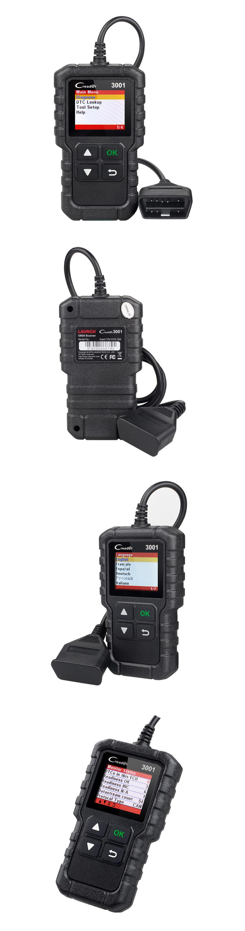 Newest LAUNCH X431 CR 3001 OBDII/EOBD Universal Diagnostic Scan Tool