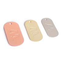 Factory custom engraved embossed bulk dog tag custom engraved