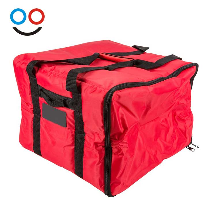 Professional Thermal Thicken Red Pizza Insulation Tote Bag Waterproof Pizza Warmer Lunch Delivery Bags