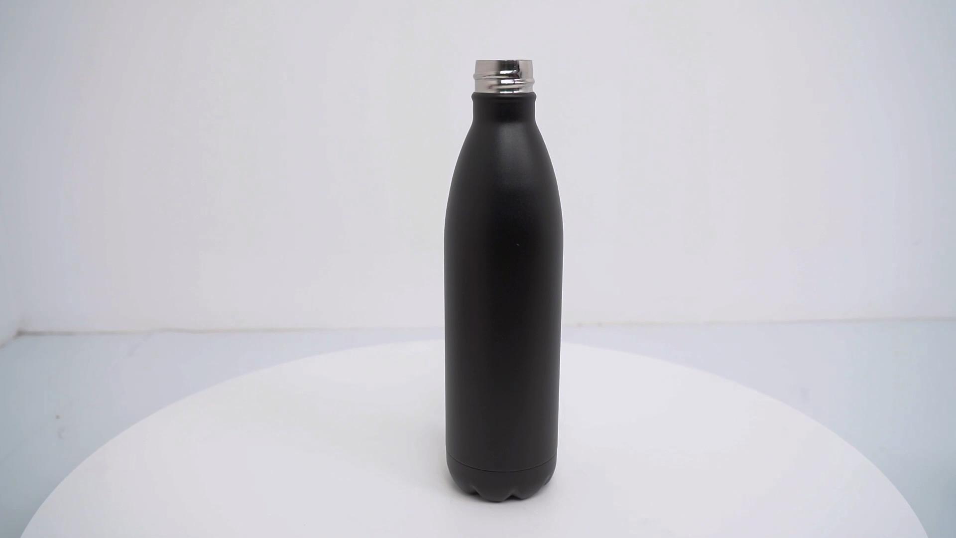 Eco-friendly In Acciaio Inox opaco nero della bicicletta bottiglia di acqua nebulizzata per l'esecuzione di