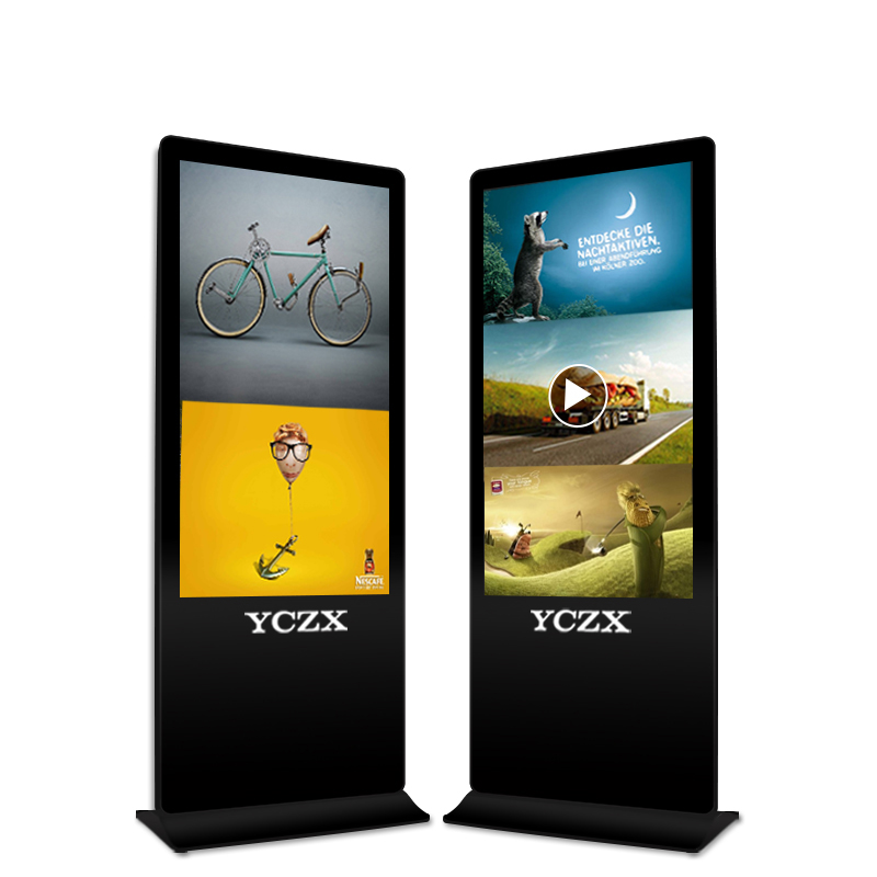 "43 ""-65"" UHD indoor multi touch reclame lcd led display touch screen kiosk prijs vloerstaande reclame led display"