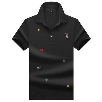 Custom Wholesale Mens Embroidered Short Sleeve Cotton Golf Polo Shirt