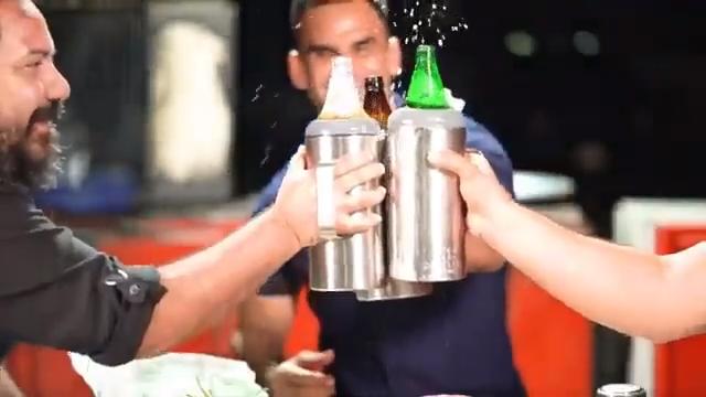 1.2 Lts beer bottle holder Stainless Steel beer cooler cup 40oz bottle holder with handle