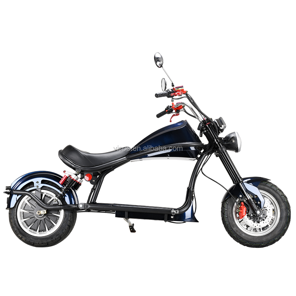 Holland Warehouse New EEC/COC Citycoco 3000W Homologation Electric Scooter with Removable Lithium Battery