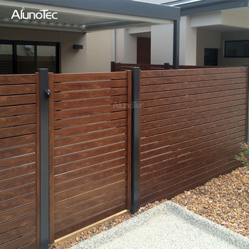 Best Price Garden Gates Louvered Aluminum Fencing Slat Horizontal Fence Panels View Aluminium Plat Blade Louvre Metal Fence Aluno Product Details From Dongguan Aluno Industry Co Ltd On Alibaba Com