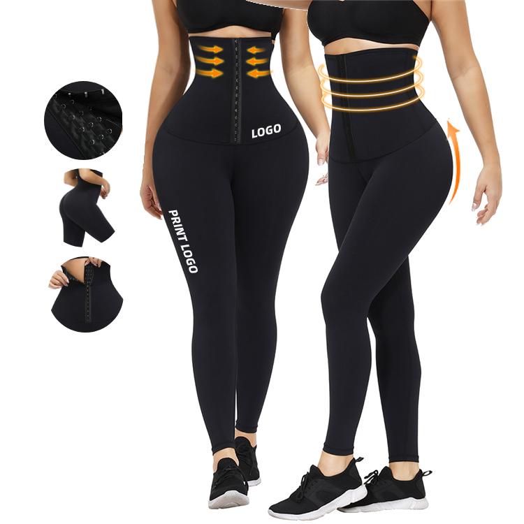 Waist Trainer Women Shaper Wholesale Body Shaper Panty Waist Trainer Leggings, Black