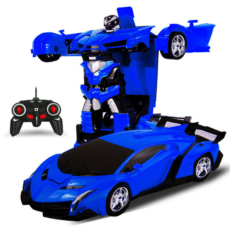Electric RC Car Sports Car Shock Resistant Transformation Robot Toy Remote Control Deformation Car RC Robots
