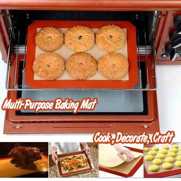 Manufacturer supply  heat resistant custom non stick silicone baking mat for oven baking