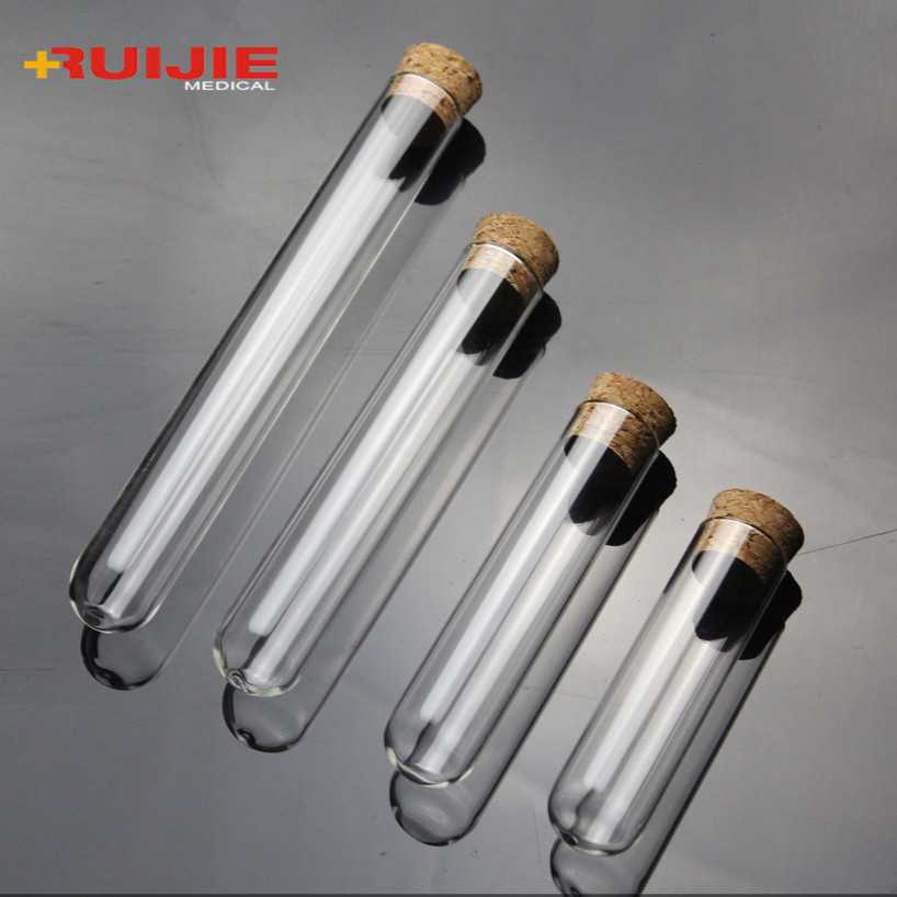 1 piece of Pyrex round bottom test tube 18x180mm high temperature resistant with plug