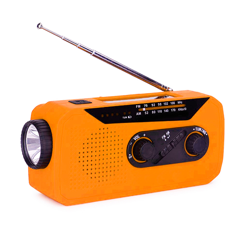 Emergency Hand Crank Weather AM / FM Multi-function Radio With LED Flashlight