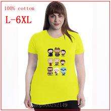 Футболка с героями игры престолов FUNKO POP, женская футболка, Женские топы из 100% хлопка, Забавные футболки, футболка большого размера 4XL 5XL 6XL(Китай)