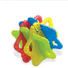 Детские Прорезыватели для зубов, Детские массажные прорезыватели, детские жевательные игрушки, строительные блоки, силиконовые прорезыват...(Китай)