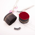 Black matte type round filament pbt tapered filament for eyelash