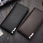 Wallet Men Long Type Pu Leather Bifold Wallet Coin Purse Wallet To Hold Many Cards