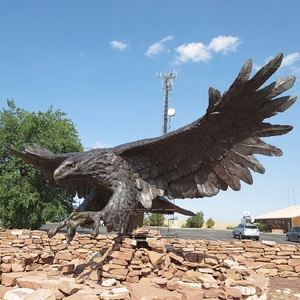 Best Selling large Outdoor cast iron bronze eagle falcon statues
