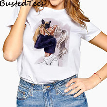 Новое поступление. Стильная женская футболка с принтом собаки в стиле Харадзюку 90 S. Летняя Мягкая футболка(Китай)