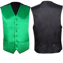 Мужской Атласный жилет, Зеленый Шелковый жилет без рукавов, Повседневные Вечерние платья-смокинги для свадьбы, весна 2020(China)