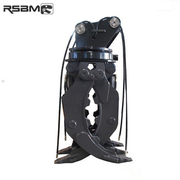 RSBM excavator spare parts 1800mm max openning rotating hydraulic grapple