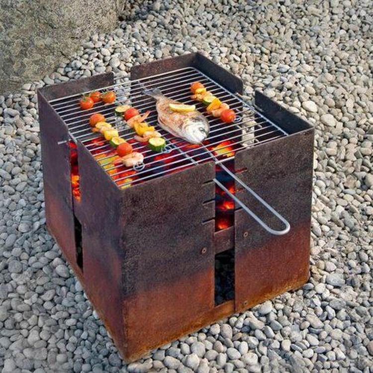 Patio Corten Firepit, Fire Bowl BBQ Corten Steel Fire Pit