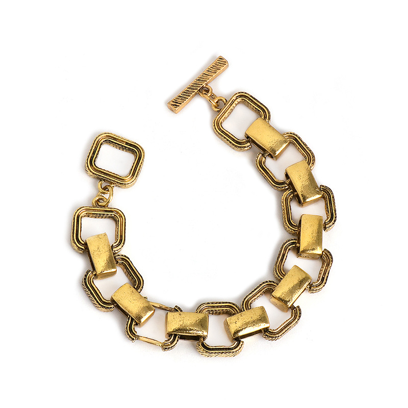 American vintage alloy chain bracelet female exaggerated geometric punk bracelet hot style accessories wholesale