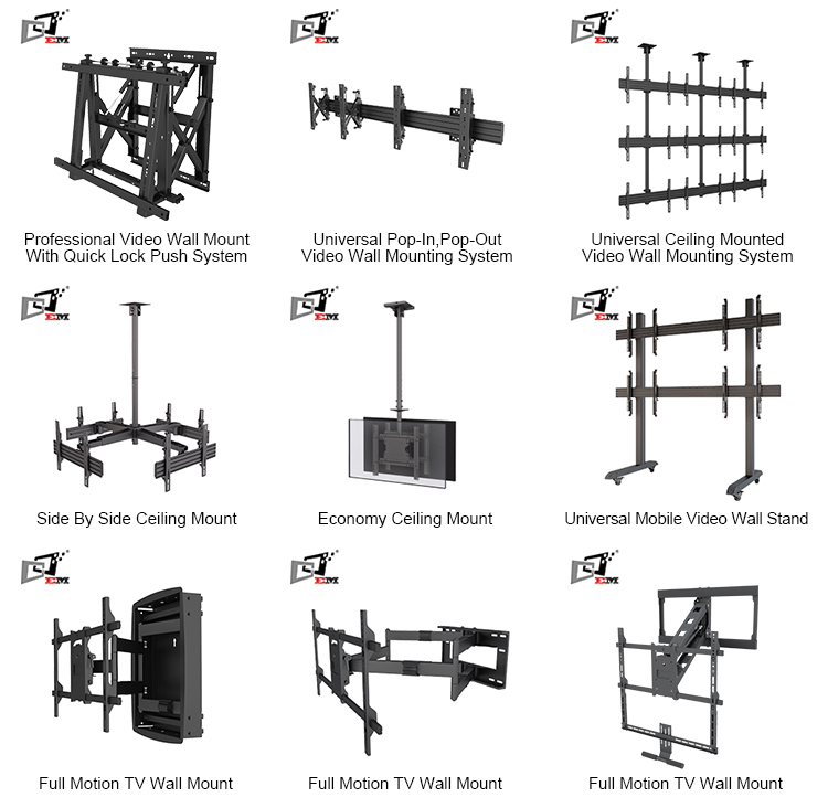 Metal Adjustable TV Trolley Designs With Plastic DVD Holder