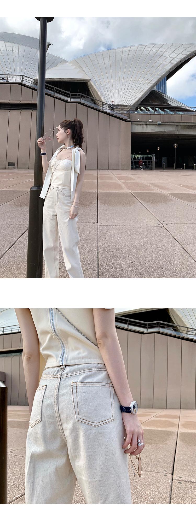 Pantalones Rectos De Cintura Alta Para Mujer Pantalones Ajustados Color Blanco Verano 2020 Buy Pantalones Para Mujeres De Cintura Alta Pantalones Blancos Product On Alibaba Com