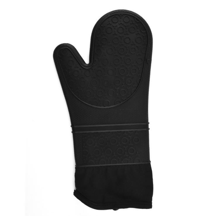 Isolation thermique en silicone à cinq doigts gant gants de barbecue