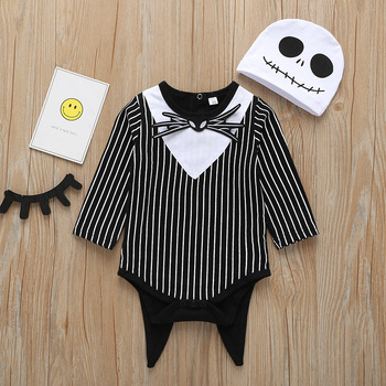 Stripe Printed Long Frock Baby Girl Bows Long Sleeve Rompers Infant Kids Clothes Autumn Rompers Jumpsuit
