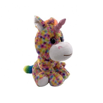 free samples Popular kids Sitting plush unicorn peluches colorful stuffed animals toy for baby stuff
