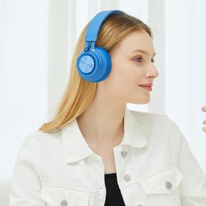 Foldable deep bass sound hifi stereo earphone bluetooth headset headphone