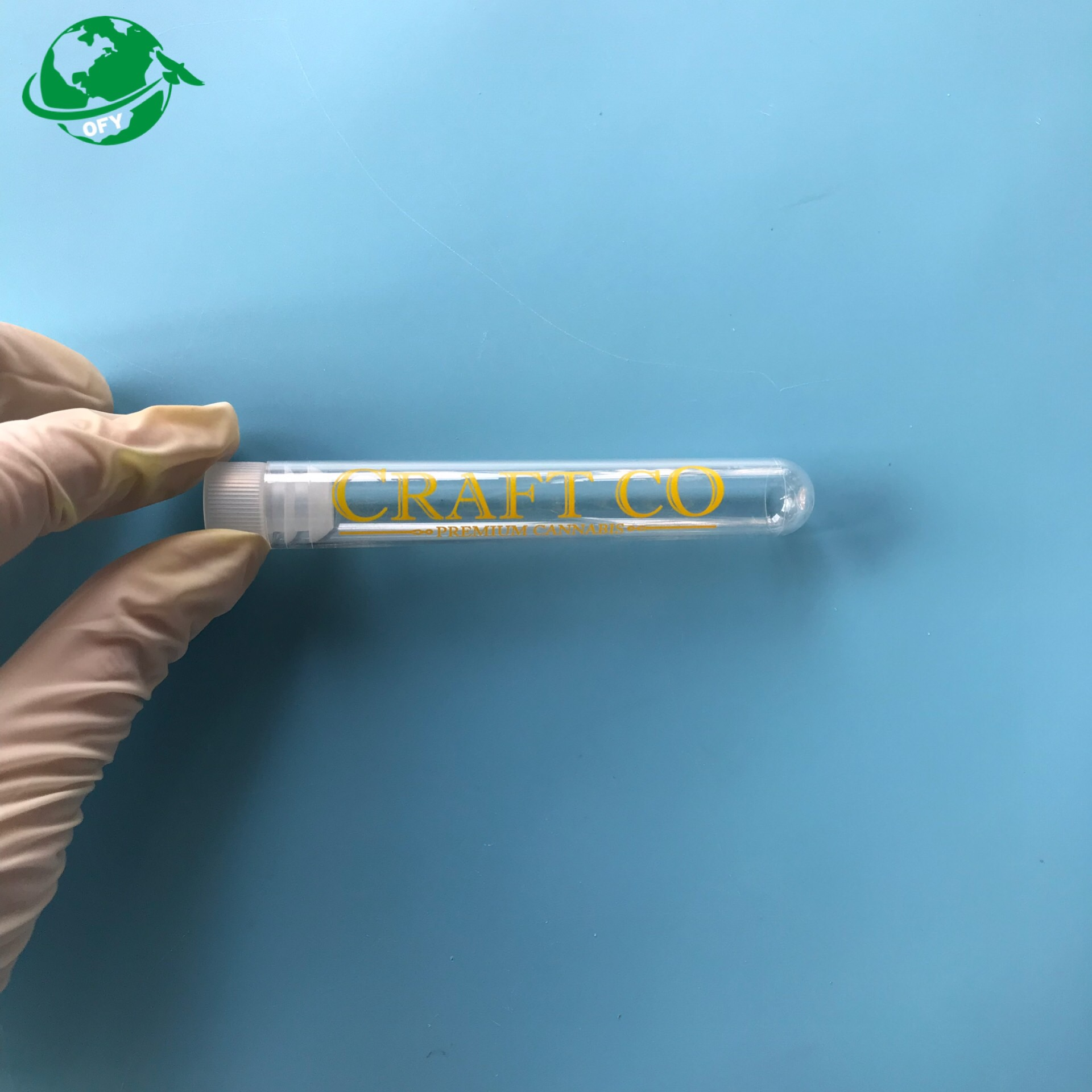 Custom OEM pre roll tubes for joints test tube plastic with lid