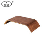 Wholesale cheap price walnut wooden computer monitor riser stand desktop