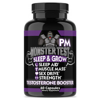 Monster PM sleep aid supplements tablets with muscle mass, sex drive, strength