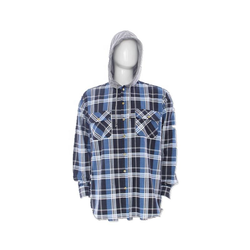 100% कपास पुरुषों के पूर्ण जेब के साथ अनुकूलित दो जेब बटन नीचे प्लेड lumberjackt फलालैन शर्ट सांस जर्सी हूडि